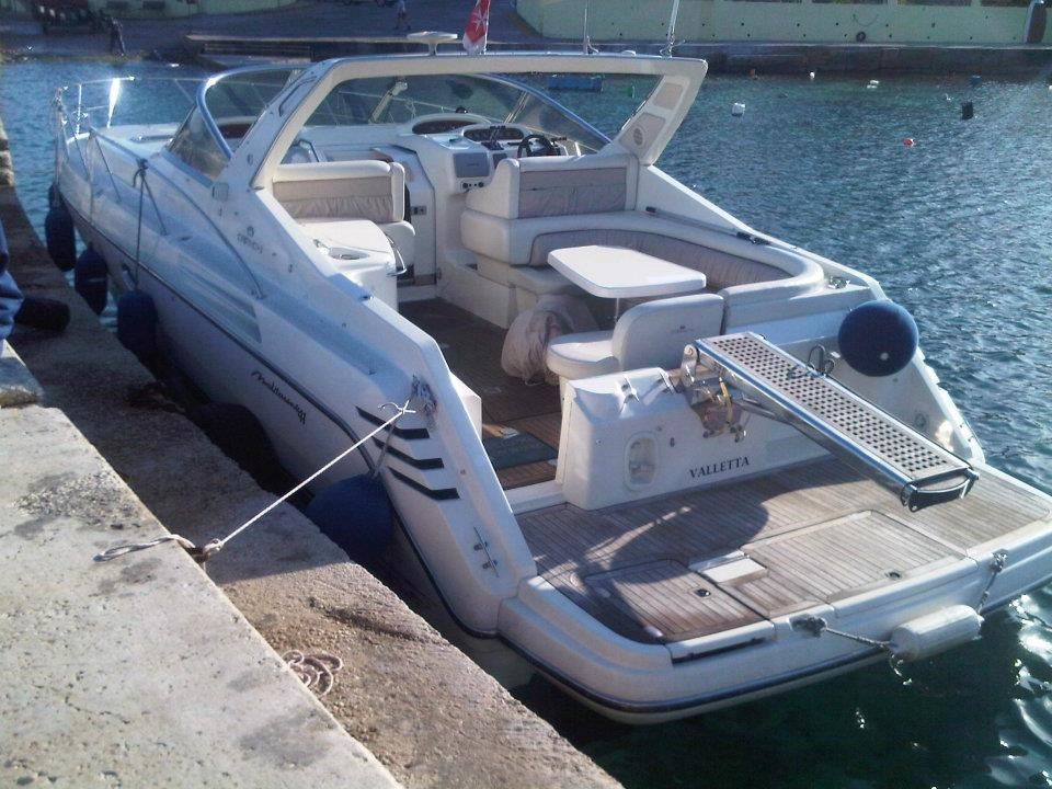 Rent / charter Motor Boat for Boat Parties, Conference & Incentive / Meetings / Corporate, Full Day Tour, Half Day Tour, Harbour Cruise, Private Charter & Team Building Activities in Malta & Gozo - Cranchi 40
