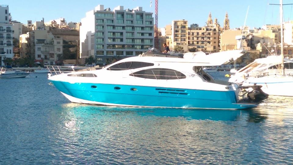 Rent / charter Luxury Yacht & Motor Boat for Boat Parties, Conference & Incentive / Meetings / Corporate, Full Day Tour, Half Day Tour, Harbour Cruise, Private Charter & Team Building Activities in Malta & Gozo - Azimut 46