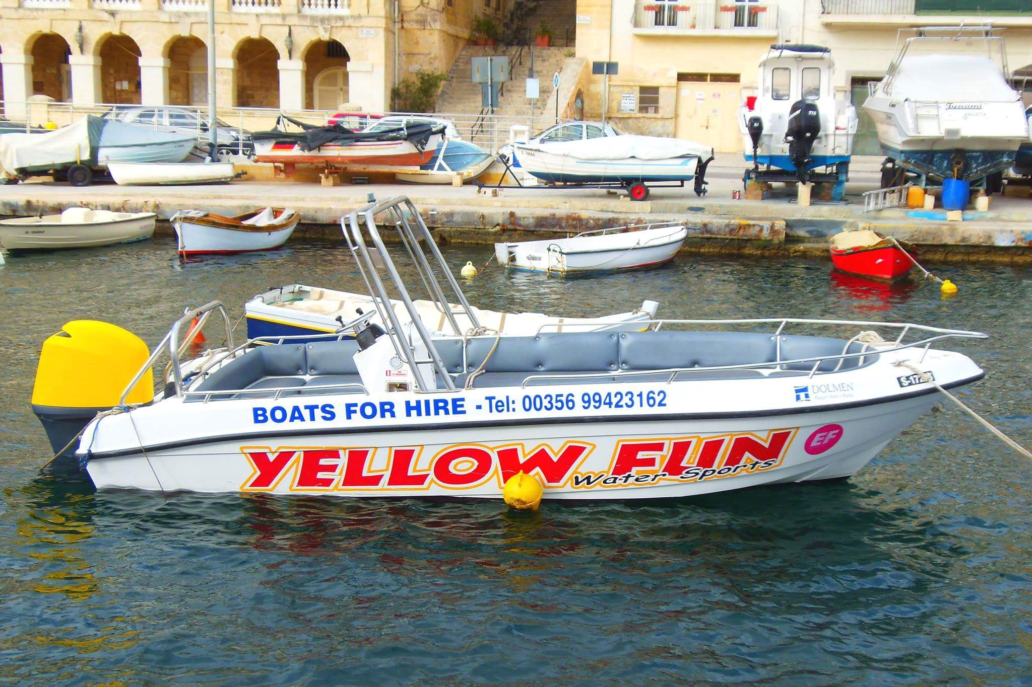 Rent / charter Motor Boat for Full Day Tour, Half Day Tour, Harbour Cruise, Private Charter & Team Building Activities in Malta & Gozo - Buccaneer Speed boat