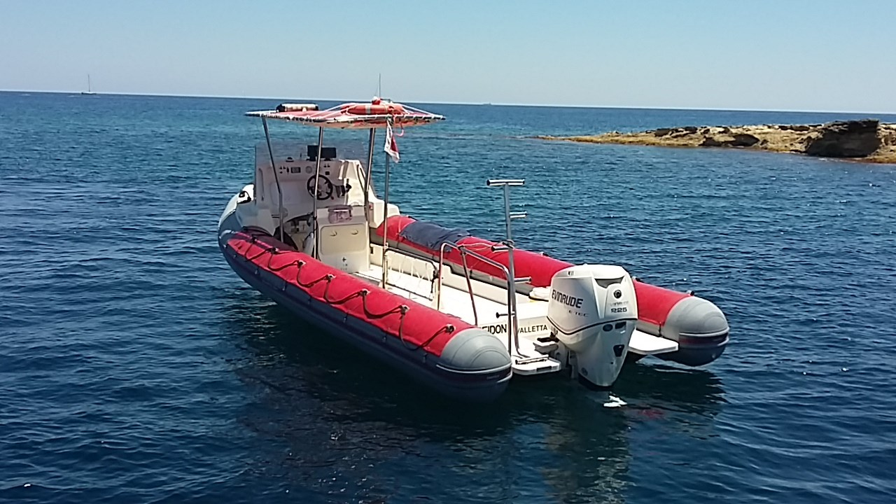 Rent / charter Rib / Dinghy for Boat Diving, Private Charter & Team Building Activities in Malta & Gozo - BWA 750 California