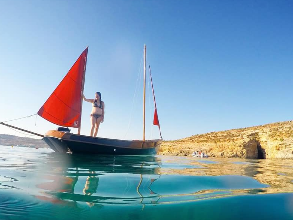 Rent / charter Sailing Yacht for Boat Diving, Fishing Trips, Full Day Tour, Half Day Tour, Harbour Cruise, Private Charter & Team Building Activities in Malta & Gozo - Drascom Lugger by Church boats 19 ft Lugger