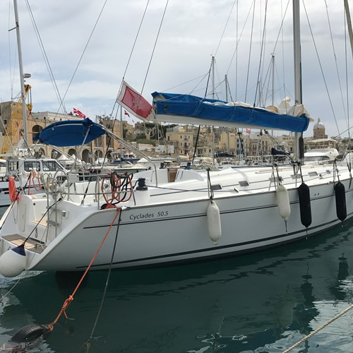 Rent / charter Sailing Yacht for Boat Diving, Boat Parties, Conference & Incentive / Meetings / Corporate, Fishing Trips, Full Day Tour, Half Day Tour, Harbour Cruise, Private Charter & Team Building Activities in Malta & Gozo - Beneteau Cyclades 50.5