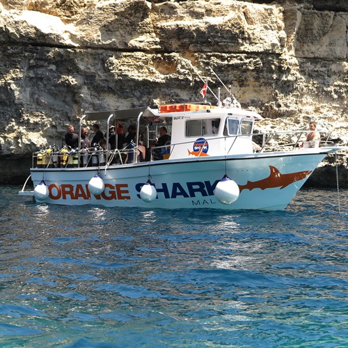 Rent / charter Diving Boat for Boat Diving, Full Day Tour, Half Day Tour & Team Building Activities in Malta & Gozo - Qalfat, Gozo 30 feet diving boat