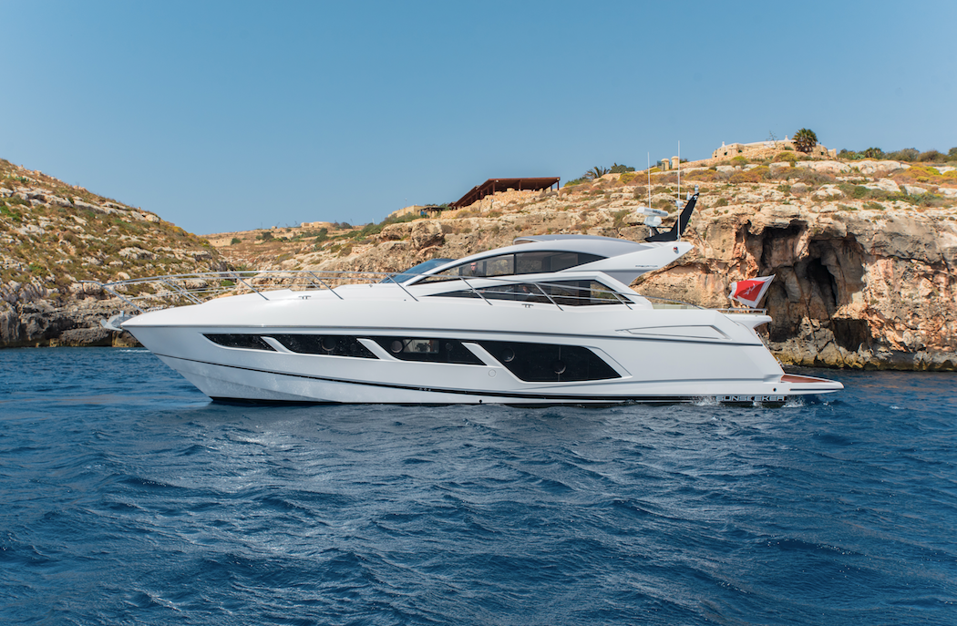 Rent / charter Luxury Yacht & Motor Boat for Boat Diving, Boat Parties, Conference & Incentive / Meetings / Corporate, Full Day Tour, Half Day Tour, Harbour Cruise, Private Charter & Team Building Activities in Malta & Gozo - Sunseeker Predator 57