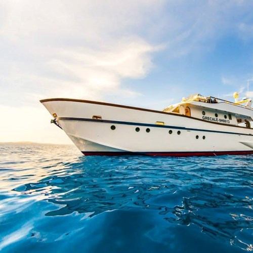 Rent / charter Motor Boat for Boat Diving, Boat Parties, Conference & Incentive / Meetings / Corporate, Fishing Trips, Full Day Tour & Private Charter in Malta & Gozo - Deep Sea Technology Ex Italian Navy Grecale