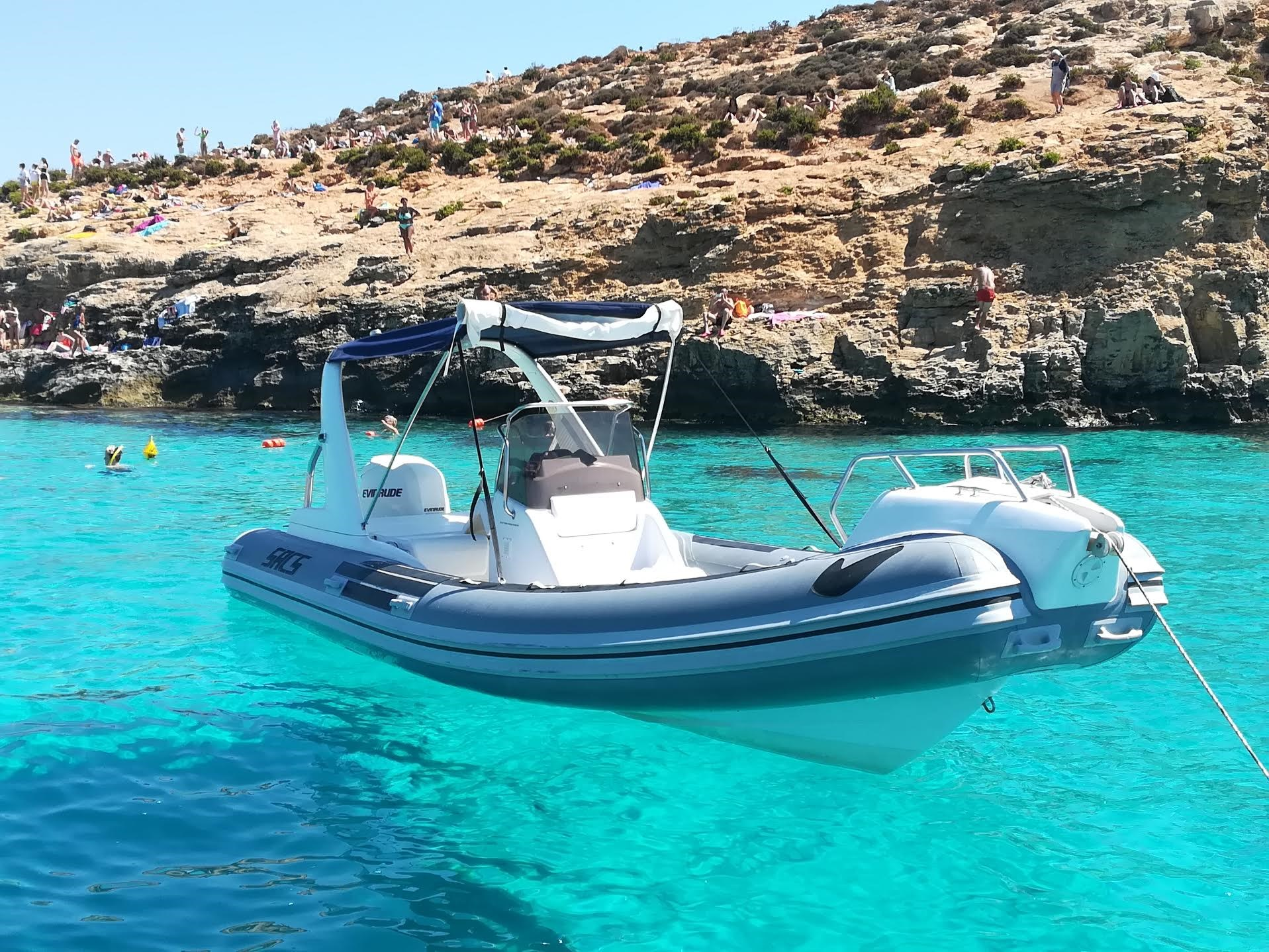 Rent / charter Rib / Dinghy for Full Day Tour, Half Day Tour, Harbour Cruise & Private Charter in Malta & Gozo - SACS S680