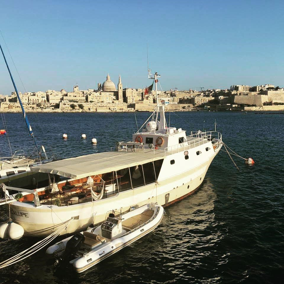 Rent / charter Motor Boat for Boat Parties, Conference & Incentive / Meetings / Corporate, Fishing Trips, Full Day Tour, Half Day Tour, Harbour Cruise, Private Charter & Team Building Activities in Malta & Gozo - Cantieri Anconetani Motor Boat