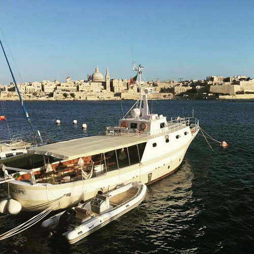Rent / charter Motor Boat for Boat Parties, Conference & Incentive / Meetings / Corporate, Fishing Trips, Full Day Tour, Half Day Tour, Harbour Cruise, Private Charter & Team Building Activities in Malta & Gozo - Motor Boat